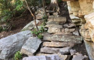 Staircase built at Antlion Cliff by volunteers