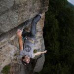Chris Vultaggio climbing Feast of Fools at the Gunks