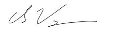 Chris' signature